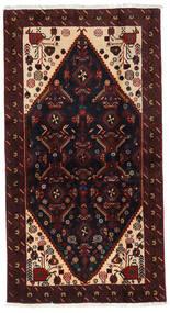 バルーチ 絨毯 106X200 オリエンタル 手織り 濃い茶色/深紅色の (ウール, ペルシャ/イラン)