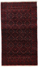 バルーチ 絨毯 96X168 オリエンタル 手織り 濃い茶色/深紅色の (ウール, ペルシャ/イラン)