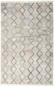 Pet Yarn Kilim Dywan 160X230 Nowoczesny Tkany Ręcznie Jasnoszary ( Indie)