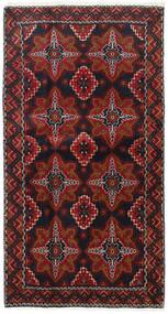 バルーチ 絨毯 103X193 オリエンタル 手織り 深紅色の/濃い茶色 (ウール, ペルシャ/イラン)