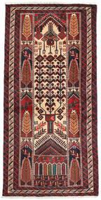 Baloutche Tapis 100X202 D'orient Fait Main Marron Foncé/Beige (Laine, Perse/Iran)