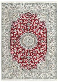 ナイン 9La 絨毯 152X210 オリエンタル 手織り 薄い灰色/暗めのベージュ色の (ウール/絹, ペルシャ/イラン)