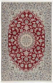 Naïn 9La Tapis 116X183 D'orient Fait Main Gris Clair/Rouge Foncé (Laine/Soie, Perse/Iran)