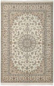 Nain 6La Rug 148X224 Authentic  Oriental Handknotted Light Grey/Dark Grey (Wool/Silk, Persia/Iran)