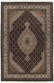 Tabriz Royal Matta 139X204 Äkta Orientalisk Handknuten Mörkbrun/Ljusgrå ( Indien)