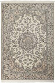 Nain 6La Matta 157X225 Äkta Orientalisk Handknuten Ljusgrå/Mörkgrå (Ull/Silke, Persien/Iran)