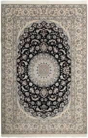 Nain 6La Matta 209X307 Äkta Orientalisk Handknuten Ljusgrå/Mörkgrå (Ull/Silke, Persien/Iran)