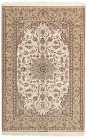 Isfahan Urzeală De Mătase Covor 158X237 Orientale Lucrate De Mână Gri Deschis/Bej/Maro (Lână/Mătase, Persia/Iran)