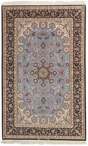 Isfahan Urzeală De Mătase Covor 155X248 Orientale Lucrate De Mână Gri Deschis/Maro Închis (Lână/Mătase, Persia/Iran)