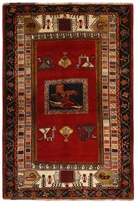 Qashqai Rug 128X190 Authentic Oriental Handknotted Dark Brown/Dark Red (Wool, Persia/Iran)