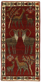 Ghashghai Matta 96X196 Äkta Orientalisk Handvävd Mörkbrun/Röd (Ull, Persien/Iran)