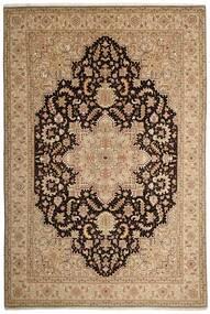 Tabriz 50 Raj Tapete 200X294 Oriental Tecidos À Mão Castanho Claro/Bege Escuro (Lã/Seda, Pérsia/Irão)