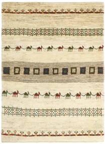 Gabbeh Persia Matto 128X179 Moderni Käsinsolmittu Beige/Tummanbeige (Villa, Persia/Iran)