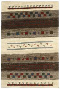 Gabbeh Persa Tapete 125X187 Moderno Feito A Mão Castanho Escuro/Bege (Lã, Pérsia/Irão)