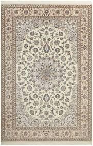 Nain 6La Matta 210X308 Äkta Orientalisk Handknuten Ljusgrå/Beige (Ull/Silke, Persien/Iran)