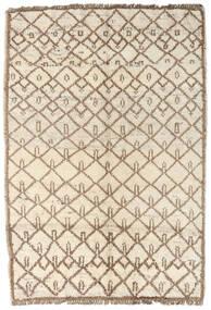 Moroccan Berber - Afghanistan 絨毯 96X134 モダン 手織り ベージュ/薄い灰色 (ウール, アフガニスタン)
