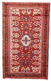 Hamadan Teppe 72X120 Ekte Orientalsk Håndknyttet Mørk Rød/Beige (Ull, Persia/Iran)
