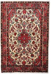 Hamadan Teppe 80X120 Ekte Orientalsk Håndknyttet Mørk Rød/Beige (Ull, Persia/Iran)