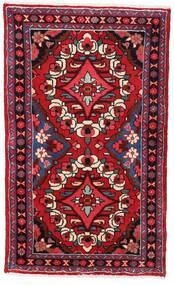 Hamadan Teppe 76X126 Ekte Orientalsk Håndknyttet Mørk Rød (Ull, Persia/Iran)