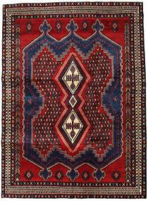 Afshar Tapis 163X226 D'orient Fait Main Rouge Foncé/Marron Foncé (Laine, Perse/Iran)