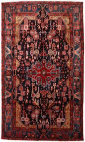 Nahavand Teppe 150X256 Ekte Orientalsk Håndknyttet Mørk Rød/Svart (Ull, Persia/Iran)