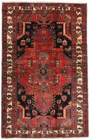 Hamadan Teppe 115X179 Ekte Orientalsk Håndknyttet Mørk Rød/Mørk Brun (Ull, Persia/Iran)