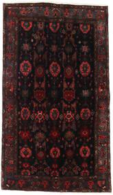 Hamadan Teppe 127X227 Ekte Orientalsk Håndknyttet Svart/Mørk Rød (Ull, Persia/Iran)