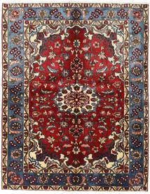 Nahavand Tapete 155X200 Oriental Feito A Mão Vermelho Escuro/Castanho Escuro (Lã, Pérsia/Irão)