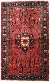 Hamadan Rug 125X201 Authentic  Oriental Handknotted Dark Red/Dark Brown (Wool, Persia/Iran)