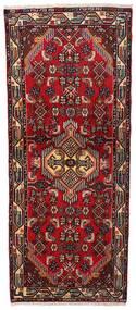 Asadabad Rug 76X183 Authentic  Oriental Handknotted Hallway Runner  Dark Red (Wool, Persia/Iran)