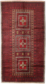 Beluch Matta 136X253 Äkta Orientalisk Handknuten Mörkröd/Röd (Ull, Persien/Iran)