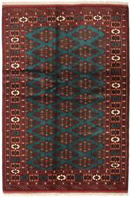 Turkaman Matto 137X201 Itämainen Käsinsolmittu Tummanpunainen/Musta (Villa, Persia/Iran)