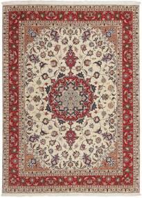 Tabriz 50 Raj Tapis 151X210 D'orient Tissé À La Main Gris Clair/Rouge Foncé (Laine/Soie, Perse/Iran)