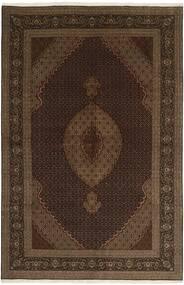 Tabriz 50 Raj Tapete 198X305 Oriental Tecidos À Mão Castanho Escuro/Castanho (Lã/Seda, Pérsia/Irão)