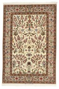 Isfahan Silk Warp Rug 109X161 Authentic Oriental Handwoven Beige/Brown (Wool/Silk, Persia/Iran)