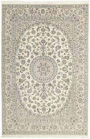 Nain 6La Tæppe 206X310 Ægte Orientalsk Håndknyttet Lysegrå/Beige (Uld/Silke, Persien/Iran)