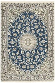 Nain 9La Teppe 120X178 Ekte Orientalsk Håndvevd Beige/Mørk Blå (Ull/Silke, Persia/Iran)