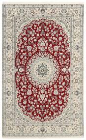 ナイン 9La 絨毯 149X238 オリエンタル 手織り 薄い灰色/ベージュ (ウール/絹, ペルシャ/イラン)