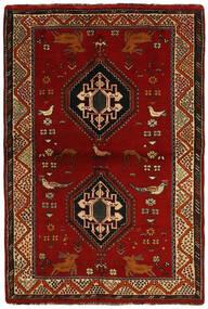 Ghashghai Tappeto 123X184 Orientale Fatto A Mano Marrone Scuro/Rosso Scuro (Lana, Persia/Iran)
