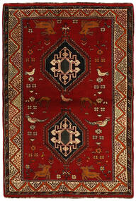 Ghashghai Χαλι 123X184 Ανατολής Χειροποιητο Σκούρο Καφέ/Σκούρο Κόκκινο (Μαλλί, Περσικά/Ιρανικά)