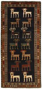 Ghashghai Teppich 112X237 Echter Orientalischer Handgewebter Läufer Schwartz/Dunkelbraun (Wolle, Persien/Iran)