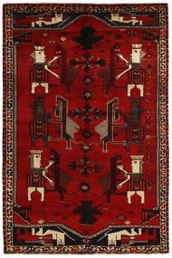 Ghashghaï Tapis 156X240 D'orient Tissé À La Main Rouge Foncé/Marron Foncé (Laine, Perse/Iran)