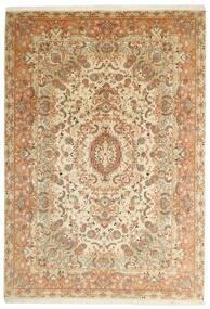 Tabriz 50 Raj Tapete 205X297 Oriental Tecidos À Mão Bege/Castanho (Lã/Seda, Pérsia/Irão)