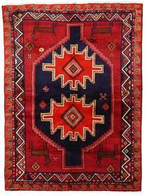 Lori Matta 147X200 Äkta Orientalisk Handknuten Mörkröd/Mörklila (Ull, Persien/Iran)
