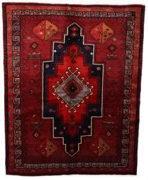 Lori Matta 164X208 Äkta Orientalisk Handknuten Mörkröd (Ull, Persien/Iran)