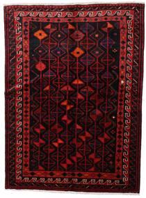 Lori Matta 147X200 Äkta Orientalisk Handknuten Mörkröd (Ull, Persien/Iran)