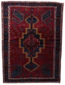 Lori Matta 154X210 Äkta Orientalisk Handknuten Mörkröd (Ull, Persien/Iran)