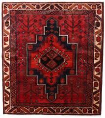 Lori Matta 170X191 Äkta Orientalisk Handknuten Mörkröd/Mörkbrun (Ull, Persien/Iran)