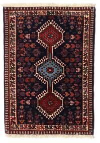 Yalameh Teppe 64X90 Ekte Orientalsk Håndknyttet Mørk Rød (Ull, Persia/Iran)