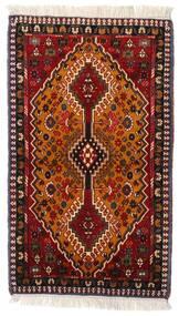 Yalameh Teppe 63X107 Ekte Orientalsk Håndknyttet Mørk Rød/Brun (Ull, Persia/Iran)